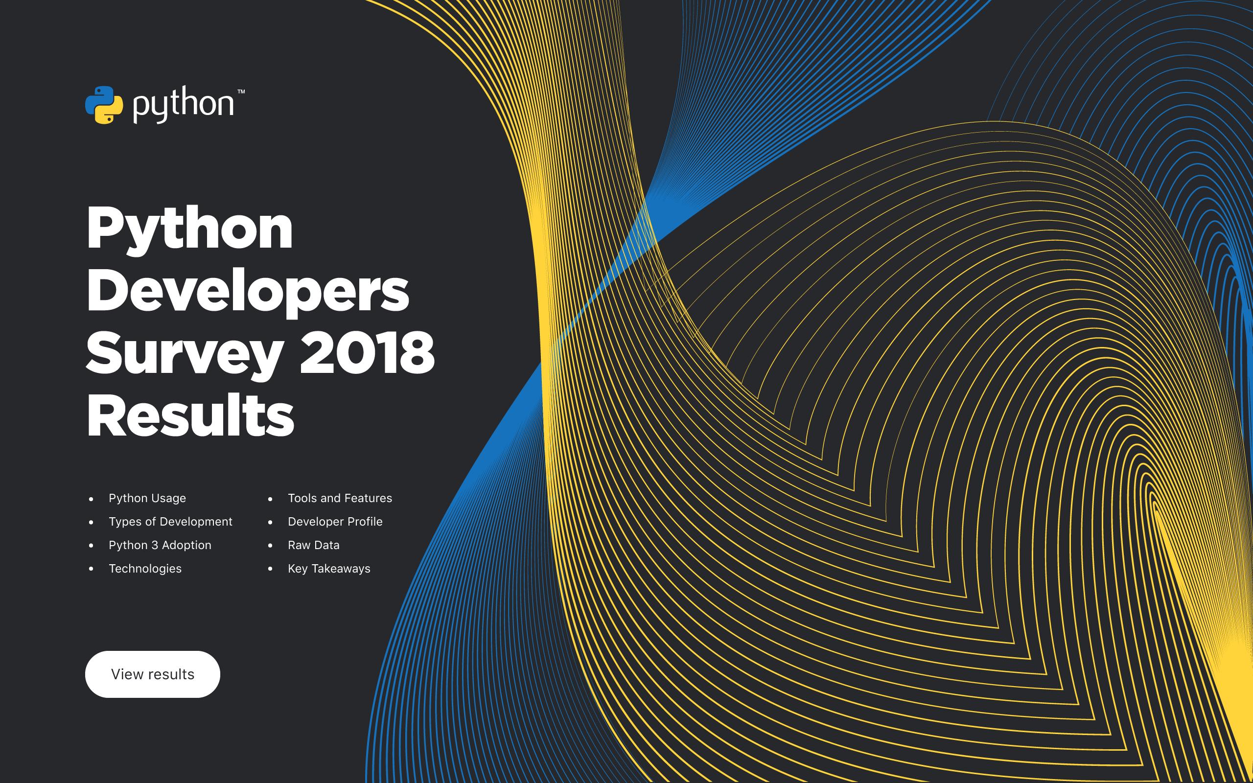 Python Developers Survey 2018 Results